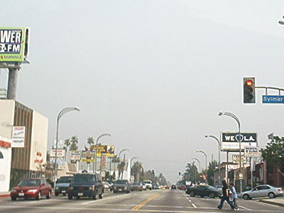 Intersection Of Victory Boulevard And Sylmar Avenue