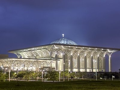 Iron Mosque Putrajaya At Night