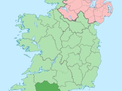 Island Of  Ireland Location Map  Cork