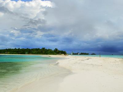 Island Of Lankanfushi From Lankanfinolhu  Two Of The Tourist Res