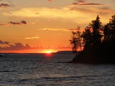 Isle Royale Todd Harbor Sunset