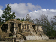 Iximche Temple - Chimaltenango Department - Guatemala