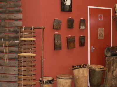 The Akadinda (Large Xylophone), Kalimbas On The Wall