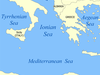 Map Of The Ionian Sea
