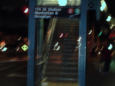 Staircase To Southbound Platform