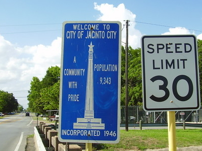 Jacinto City Entrance Sign