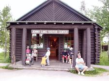 Jenny Lake Visitor Center At Grand Tetons - Wyoming - USA