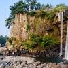 Jeongbang Waterfall At Jeju Do