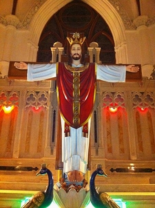 Jesus Chirst At Main Altar In Santhome Church
