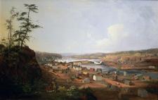 John Mix Stanley Oregon City On The Willamette River Amo