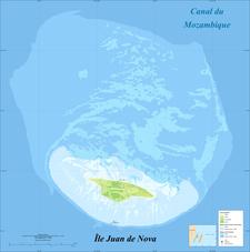 Juan De Nova Island And Reef Land Cover Map Fr