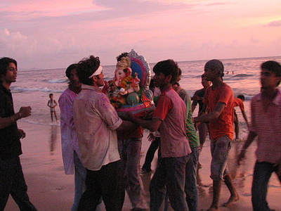 Juhu Beach On Ganesh Chaturthi Festival