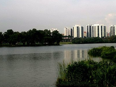 Jurong East Neighbourhood Town On The Background