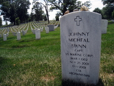Johnny Micheal Spann Headstone Arlington National Cemetery