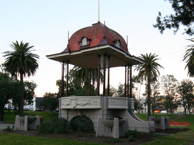 Hitchcock Memorial Bandstand In The Park