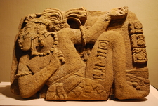 Stone Depicting Palenque Ruler Joy Chitam II