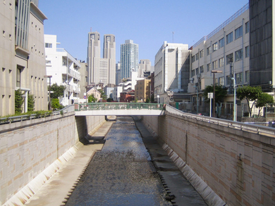 The Kanda River In Nakano