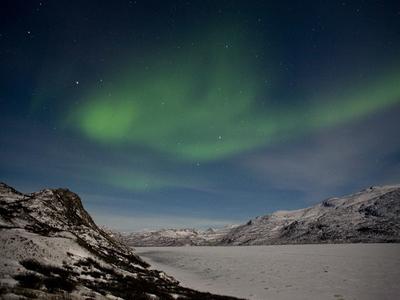 Kangerlussuaq Town Northern Lights