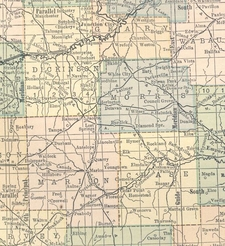 Kansas Map 1 9 1 4 Chase Dickinson Marion Morris