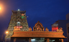 Kapali Temple At Night