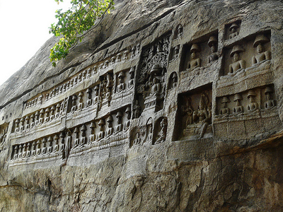 Kazhugumalai  Jain Rock Cut Relief