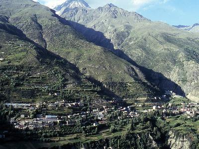 Keylong, Viewed From Kardang Monastery