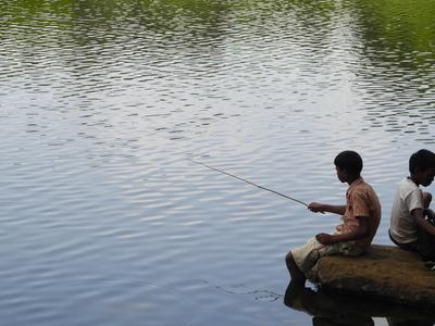 Khandala Lake - Local Fisherboys - Maharashtra - India