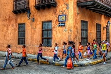 Kids In Cartagena Colombia