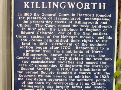 Killingworth Ct Historical Town Sign 1