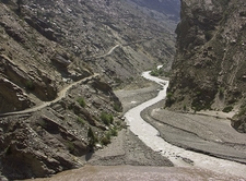 Kinnaur Road & River Near Lahau & Spiti Valleys - Himachal Pradesh