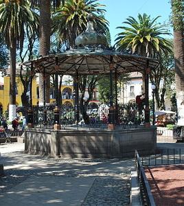 Kiosk In The Main Plaza Of Huauchinango