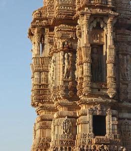 Kirti Stambh Tower In Chittorgarh Fort