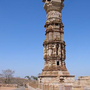 Kirti Stambha Close Up View