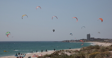 Kite Surfing At Table Bay