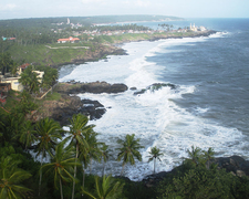 Kovalam Beach From Lighthouse