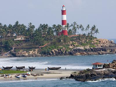 Kovalam - Beach & Lighthouse