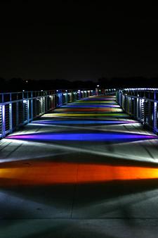 Kruidenier Trail Bridge At Night