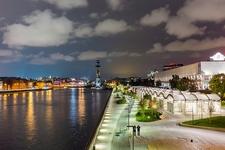Krymskaya Embankment On Moskva River