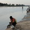 Kunda People On Luangwa River Near Mfuwe