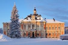 Kuopio City Hall & Market Square In Finland