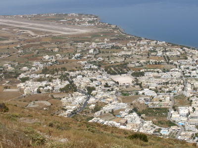 Kamari Town And Santorini National Airport
