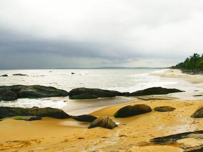 Rock Studded Beach Is Kappakkadavu
