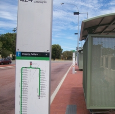 Bus Stops At Karrinyup Shopping Centre