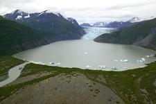 Kenai Glacier And Glacial Lake
