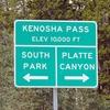 Kenosha Pass Sign