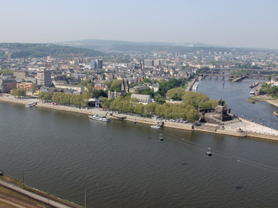 View From Festung Ehrenbreitstein At Koblenz
