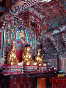 Buddhas In Geungnakjeon Hall