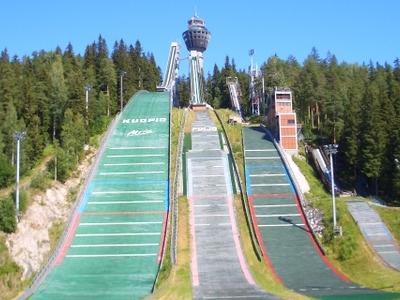 Kuopio Ski Jumping Hills And Puijo Tower
