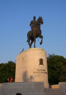 The Statue Of King Constantine I At The Park