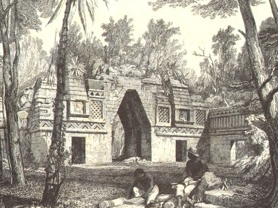 Labna Arch Drawing - Yucatán - Mexico